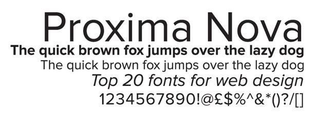 Proxima Nova Font Free Download Dafont